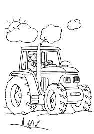 Ferme 1  Coloriage sur la Ferme tracteurs fermier animaux
