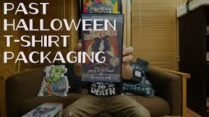 johnny cupcakes past halloween t shirt packaging youtube