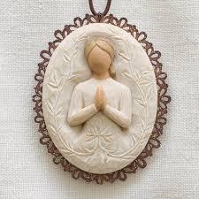Locket Ornament A Tree A Prayer Metal Edged Ornament Willow Tree