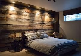 chambre bois mur en bois de grange dans une chambre meubles