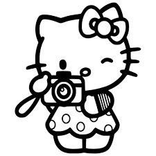 kitty tourist die cut vinyl decal pv920
