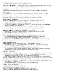 Psychology Resume Examples by Psychology Resume Sample Resumedoc