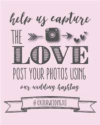 wedding signs template instagram wedding sign wedding hashtag poster