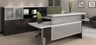 High End Reception Desks Global Total Office Zira Reception Furniture And Reception Desks