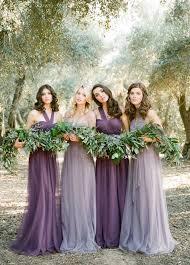bridesmaid dress ideas pacific weddings purple mismatched bridesmaid dresses ideas deer
