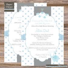 photo elephant themed baby shower invitation image