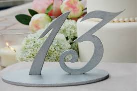 silver wedding table numbers silver glitter wedding table numbers silver table number for
