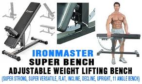 Super Bench Ironmaster Ironmaster Super Bench Adjustable Weight Lifting Bench Best