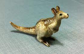 miniature ceramic kangaroo australia jumping ceramics and