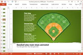 powerpoint baseball field template animated baseball playbook