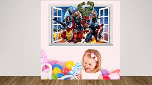 3d the avengers super hero vinyl wall sticker art decal home decor