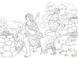 cain and abel sacrifice to god coloring page free printable