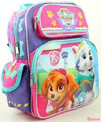 paw patrol girls 12 medium size backpack lunch bag 2 pc