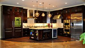 bathroom picturesque kitchen dark cabinets light granite house