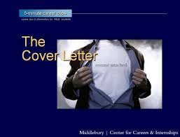 resumes cover letters middlebury