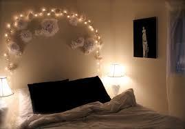 bedroom pretty string light in headboard with white flower bedroom pretty string light in headboard with white flower ornament creative upholstered headboard bedroom ideas