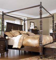 Chatham Bedroom Set Bobs Gold Canopy Bed Solivita Champagne Gold Queensize Metal Canopy