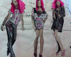 fashion design group quick croquis sketches laura volpintesta