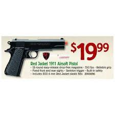 bass pro shop black friday red jacket 1911 airsoft pistol 19 99 valid on black friday