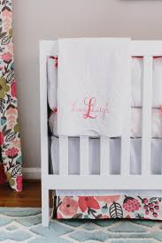 Baby Curtains For Nursery by Light Gray Transitional Nursery With Pink Accents Jenna Buck