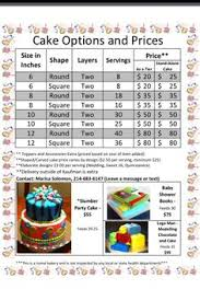 price for a cake serving guide also depends on your area this is 4 50 per