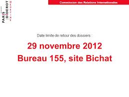 bureau des relations internationales stages à l étranger ée universitaire 2012 ppt télécharger