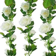amazon com ivory silk rose garland wedding decoration home