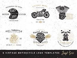 vintage motorcycle logo templates by ian barnard dribbble