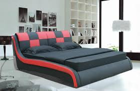 Ferrari Bed Modern Red U0026 Black Ferrari Leather Queen Size Bed