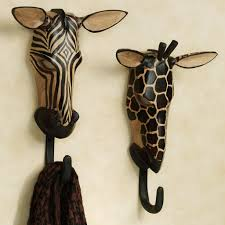 unique towel hooks with natural wild animals wall hook set ideas