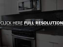 Stainless Steel Backsplash Kitchen Kitchen Black Counter With Stainless Steel Backsplash Kitchens I