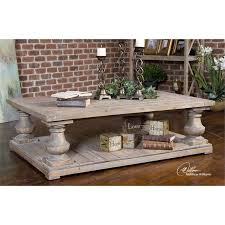 gray reclaimed wood coffee table uttermost stratford coffee table in stony gray wash 24251
