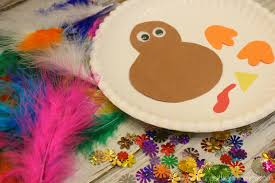paper plate feathered turkey craft young at heart mommy