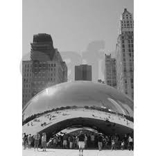 bean chicago oval ornament by theresalee