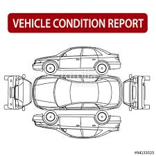 car damage report template car condition report vehicle checklist auto damage inspection