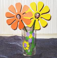Flower Vase Crafts Easy Kids Craft Finger Print Vase And Photo Paper Flower North