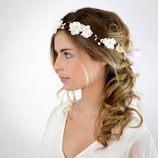 fleurs cheveux mariage mariage couronne de fleurs blanches elsa accessoires