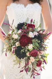 wedding flower bouquets 40 burgundy wedding bouquets for fall winter wedding hi miss puff