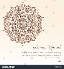 henna invitation invitation greeting card layout design mandala stock vector