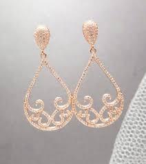gold chandelier earrings gold bridal earrings gold wedding earrings wedding
