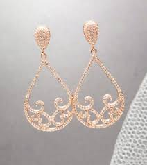gold bridal earrings chandelier gold bridal earrings gold wedding earrings wedding