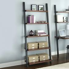 Grey Bookcase Ikea Glamorous Leaning Ladder Shelf Bookcase Brown And Grey Leaning
