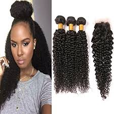 sew in wet and wavy 16in amazon com brazilian curly hair 3 bundles with closure 8a afro