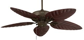 Ceiling Fan With Palm Leaf Blades by Oasis Wet Location