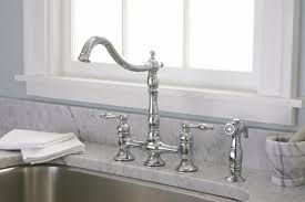 Automatic Kitchen Faucets by Premier Faucet Charlestown Two Handle Widespread Bridge Faucet