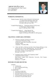 The Standard Resume Format For by Format Of An Resume Example Resume Format For Internship Free