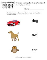 printable kindergarten reading worksheet kindergarten reading
