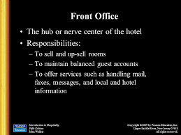 Front Desk Hotel Responsibilities Chapter 4 Rooms Division Operations Ppt Download
