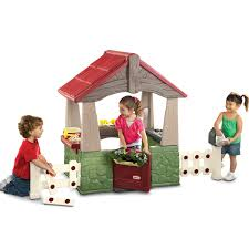 little tikes home and garden outdoor kids playhouse