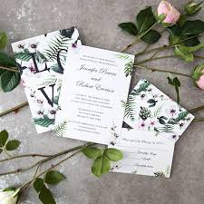 wedding invitations greenery 2017 greenery wedding invitations suite with two sides